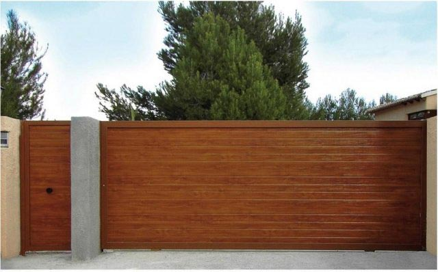 puerta corredera panel sancwich